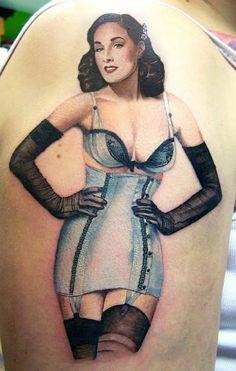 Dita Von Teese Pin Up Tattoo - David Corden