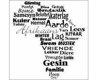 Afrikaans op sy beste... innie kombuis! Enkel décor woorde