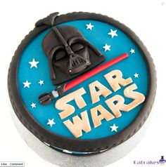 #StarWars cake - #Darth Vader - For all your cake decorating supplies, please visit craftcompany.co.uk