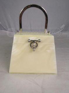 shopgoodwill.com: Vintage Pearl-Lucite Box Purse Sold for $43