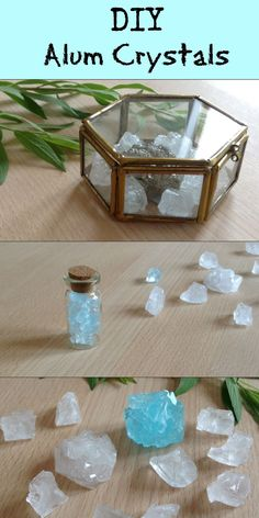 DIY Alum Crystals So fun to make and they look so pretty, perfect as Tumblr room decor or as jewelry. https://www.youtube.com/watch?v=gB-UJYV3q1Q
