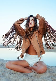 Fringed Leather Coat - must for summer!