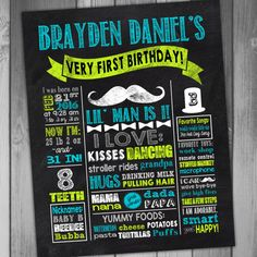 Hey, I found this really awesome Etsy listing at https://www.etsy.com/listing/218346851/first-birthday-poster-chalkboard