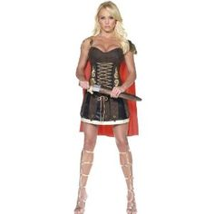 Sexy Roman Gladiator costume for women: Amazon.co.uk: Toys & Games