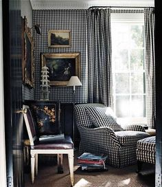 A smartly done checkered room by Cameron Kimber