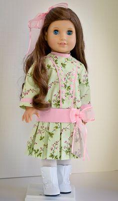 "1904 School Dress Sewing Pattern Fits 18/"" American Girl Doll #40"
