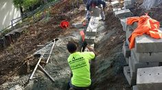 When building any block #retainingwall the footing is the most important... #allaccessconstruction