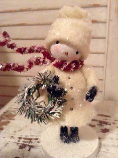 Christmas Craft Show, Vintage Christmas Crafts, Shabby Chic Christmas, Christmas Snowman, Christmas Projects, All Things Christmas, White Christmas, Holiday Crafts, Christmas Holidays