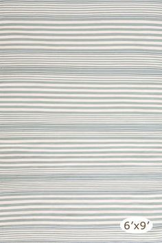 Rugby Stripe Light Blue Indoor/Outdoor Rug. 3'x5' $88 for the bathroom. Not available until May. :(