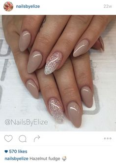 Love the shape and who doesn't love a nude polish