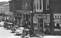 missouri 1930s | Safeway, Liberty, Mo., circa 1930.  Oh my goodness!  When I remember Liberty's Safeway, it wasn't on the Square...it was where the Hillcrest thrift shop is now.  This is so cool!