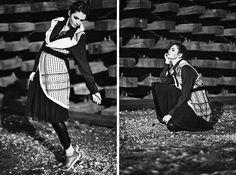 Photographer \ www.penygiannakou... Styling \ Nikos Zanas   Mua \ Dionissia Konstantinou   Hair Stylist \ Eleni Moungouli  Model \ Marlen Suzanne Fjeldstad (ACE models)   Vest \ Mirella Manta B38 Shirt \ Yesterday's Bread  Skirt \ Twins (Mystique)  Leggings \ Athina Korda  Necklace \Art Wear Dimitriadis  Belt \ Mirella Manta B38 Shoes \ Nike