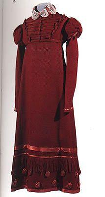 Red silk dress c. 1815  Pavlovsk Palace