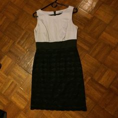 Classic Gray And Black Lace Dress. Worn Once!