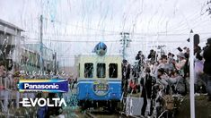 Panasonic Evolta Battery commercial: A little single-waggom train is powered up by installing 99 batteries.