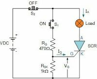 Electrical and Electronics Engineering: DC thyristor switching circuit
