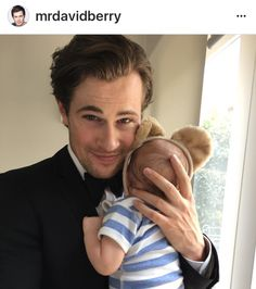 David Berry with his son