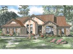 Eplans Italianate House Plan - Villa Capri - 2075 Square Feet and 4 Bedrooms from Eplans - House Plan Code HWEPL13979