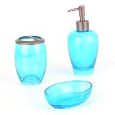 bath accessory set beach themed