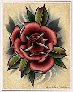 Neotraditional Rose By Darin Blank Instagram Darinblanktattoos