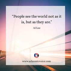 We do tend to see things from our own level of understanding, beliefs and knowledge. To get the clearest picture, is to fully immerse yourself into other people's worlds too.