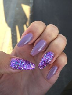 I love this purple sparkle, but maybe a different color to go along with it