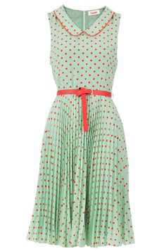 Louche Leah spotty dress from joy. I'm going to have to start making these myself, aren't I? Vintage Dresses, Vintage Outfits, Vintage Fashion, Dot Dress, Dress Up, Pink Dress, Moda Vintage, Spring Dresses, Dream Dress