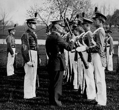 Cadet inspection, Kentucky Military Institute, Lyndon, Kentucky.