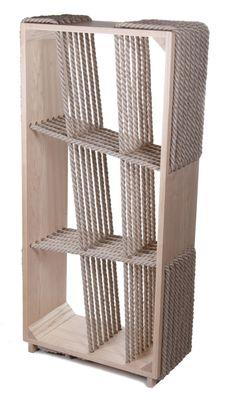 Тенденции дизайна: Веревки и канаты. Стеллаж Crossropes, дерево, дизайнеры Ката Монуш и Тамаш Божик, Loftinterior