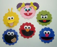 Sesame Street Birthday Party Decorations. $0.50, via Etsy.