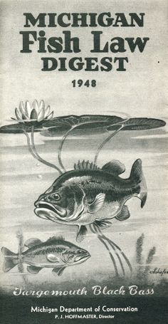 1948 Michigan Fishing License Guide