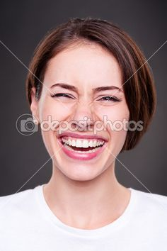 Happy and laughing woman — Stock Image #12553044