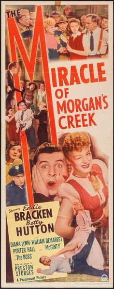 Movie Posters:Comedy, The Miracle of Morgan's Creek (Paramount, 1944). I... Image #1