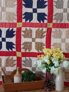 Antique Primitive Red Bear Paw QUILT 76x66 Fold Cutter Stacker Bear Paw Quilt, Bear Paws, Primitive Country, Country Decor, Decorating, Quilts, Blanket, Antiques, Red