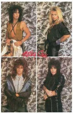 """A great poster of LA's finest 80's rock band - Motley Crue! Vince Neil, Tommy Lee, Mick Mars, and Nikki Sixx. Ships fast. 11x17 inches. """"Feelgood"""" and check out"""