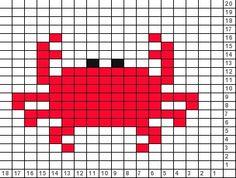 Tricksy Knitter Charts: crab (64700)