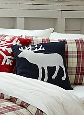 Blue moose head cushion 45 x 45 cm - Cushions Moose Crafts, Blue Moose, Men Home Decor, Moose Decor, Lincoln Logs, Pillow Crafts, Bed Pillows, Cushions, Red Rooms