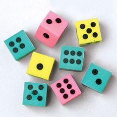 Dice Erasers (1 Gross)