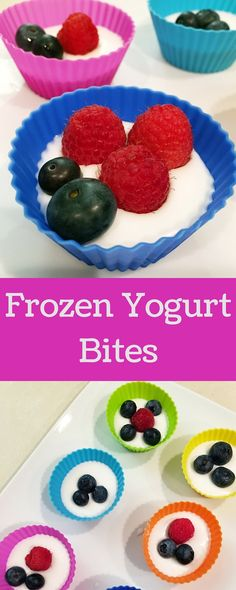 These frozen yogurt bites are sweet treat that is healthy and easy to make. The best part, your kids will love them!