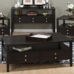 Jofran Cocktail Table With Two Pull-thru Drawers - BEYOND Stores