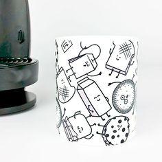 Taza productos desayuno. Disponible en www.vagalumedesigns.com