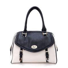 Black & White Satchel Bag