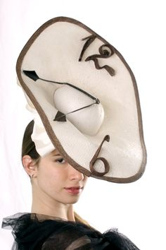 FREE shipping Ascot hat! Stunning Royal Ascot saucer fascinator hat inspired by Dali,Cream Kentucky derby hat, Melbourne cup hat fascinator by IrinaSardarevaHats on Etsy