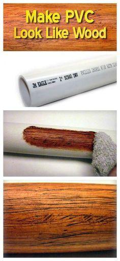 A Genius Idea to Make PVC Look Like Wood