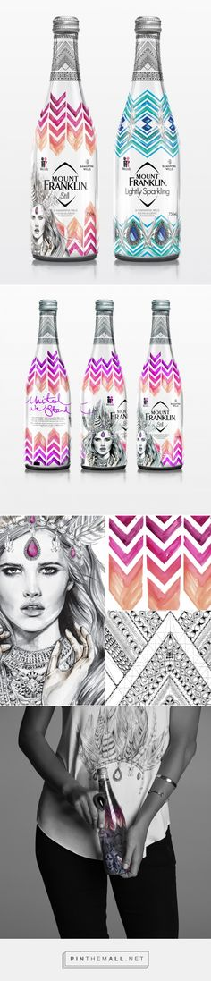 Mount Franklin McGrath Foundation | To show their support for the McGrath Foundation, Mount Franklin collaborated with Australian jewellery designer Samantha Wills and illustrator Kelly Smith of 'Birdy & Me' to turn their glass water bottles into works of art. | Creative Platform
