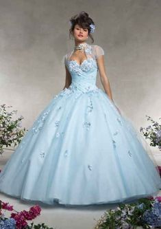 Cheap dress length, Buy Quality gown cocktail dress directly from China dress up wedding gowns Suppliers: Light Blue Quinceanera Dresses 2016 Sweet 16 Dresses Ball Gowns vestidos de 15 anos debutante Prom Dresses Online, Cheap Prom Dresses, Bridesmaid Dresses, Formal Dresses, Wedding Dresses, Sweet 15 Dresses, Sweet Dress, Tulle Ball Gown, Ball Gown Dresses