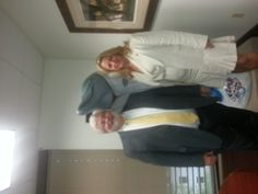 Senator Jack Latvala and Representative Kathleen Peters with the Spring Training Dolphin at Senator Latvala's office in Tallahassee.