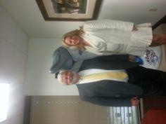 Senator Jack Latvala and Representative Kathleen Peters with the Spring Training Dolphin at Senator Latvala's office in Tallahassee.