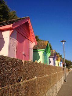 Folkestone coloured beach houses