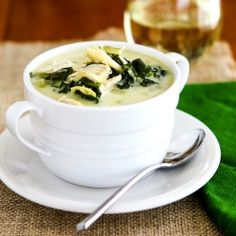 Spinach Artichoke Soup--because you've always wanted to eat the dip by the spoonful